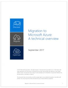 Migration to Microsoft Azure: A technical overview