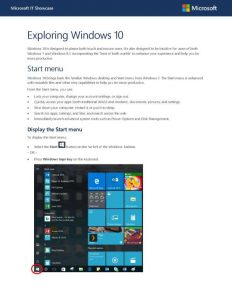 Exploring Windows 10